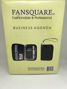 Fansquare Double Zipper Agenda Business Planner Organizer W Cell Phone Pouch