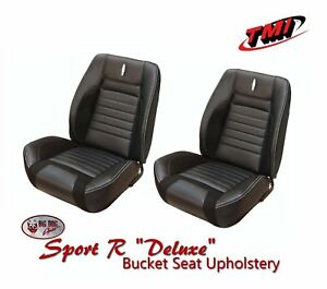 Deluxe Sport R Full Set Upholstery For 1968 Camaro Coupe Non Folding Rear Seat
