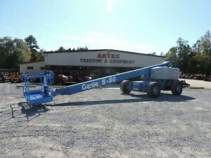 2008 Genie S 80 Boom Lift 80 Straight Reach Watch Video Only 3999 Hours