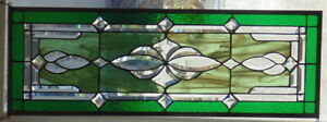 Stained Glass Transom Window Hanging 32 X 11 1 2