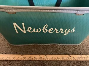 Vintage Newberry s Retail Store Advertising Shopping Basket Cart