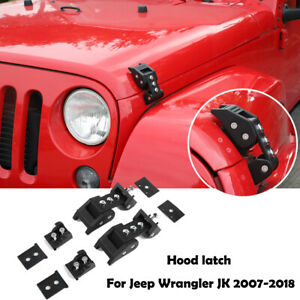 Hood Latch Locking Catch Buckle For Jeep Wrangler Jk Jl Unlimited 2007 2017 Pair