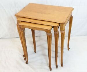 Set Of 3 Antique Petite Country French Nesting Tables Vintage Set Of 3