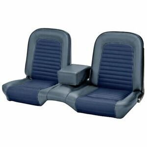 1966 Mustang Coupe Front Rear Bench Seat Upholstery Blue Tmi Usa Made