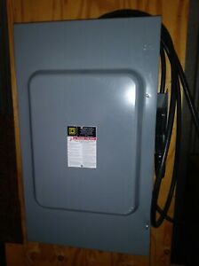 Square D Heavy Duty Safety Switch 200a H364 3 Pole 600v Type 1 Encl Fusible 10
