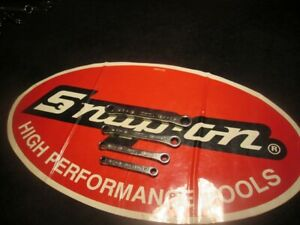 Snap On Tools 4 Piece 6 Point Sae Ratcheting Box Wrenches