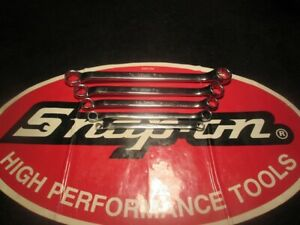 Snap on Tools 5 Piece 12 Point Sae Flank Drive 10 Offset Box Wrench Set
