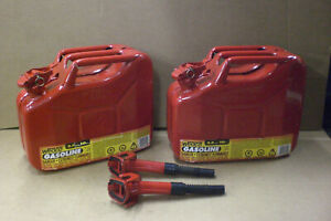 2 Wedco Jerry Can 2 5 Gal Military Style Metal Gasoline Gas Fuel Storage Cans