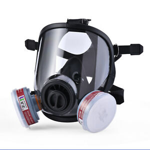 Safeyear Safety Mask Respirator Full Face Painting Spraying Gas Dust Welding Us