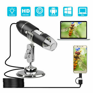 1600x Led Usb Zoom Digital Microscope Hand Held Magnifier Biological Endoscope