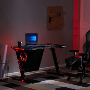 Recline Gaming Racing Chair Leather Office Executive Computer Desk Swivelseat