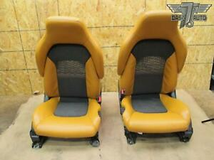 07 09 Nissan 350z Front Left Right Leather Seat Set Oem