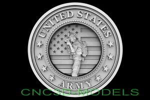 3d Stl Models For Cnc Router Carving Artcam Aspire Usa Soldier Army D659