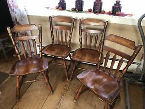 Rare Set Of Four Cushman Colonial Creations Chairs