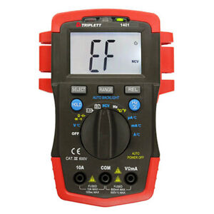 Triplett 1401 True rms Compact Ac dc Digital Multimeter With 52 Ranges