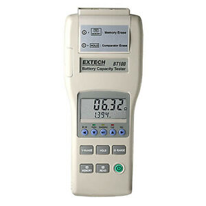Extech Bt100 Battery Capacity Tester Checks Battery Condition