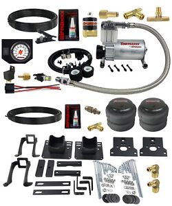 Air Helper Spring Kit In Cab White Gauge For 05 10 Ford F250 2wd Over Load Level