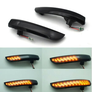 2x Led Smoke Mirror Dynamic Turn Signal Light Indicator For Ford Focus 2008 2016