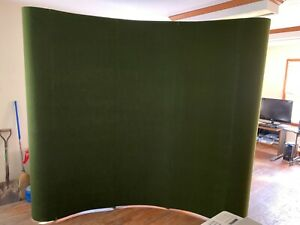 10 Curved Deluxe Pop Up Display Trade Show Booth With Podium Storage And Lights