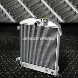 For 1932 Ford Low Boy Street Rod Chop Chevy Mopar 3 row Full Aluminum Radiator