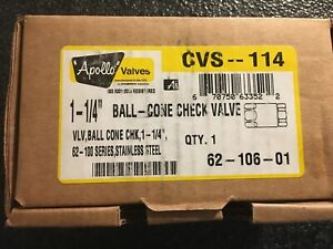11 4 Ball Cone Check Valve Conbraco 62 106 01 New Stainless Steel Fast Ship