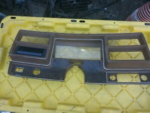 1973 1977 Chevy Malibu Chevelle El Camino Dash Gauge Bezel Wood Brown Broke