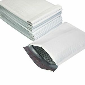 Lot White Bubble Mailers Shipping Mailing Padded Bags Envelopes Self seal