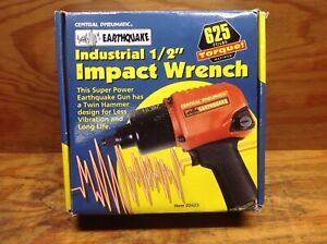 Central Pneumatic Earthquake 1 2 In Professional Air Impact Wrench New