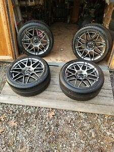 Shelby Mustang Gt500 Wheels And Goodyear F1 Supercar Tires Like New