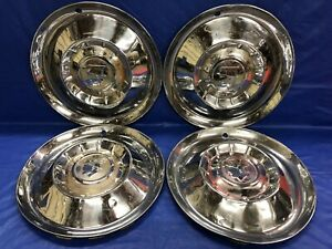 Vintage Set Of 4 1955 Mercury 15 Hubcaps Montclair Monterey