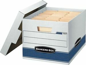 Bankers Box Stor file Corrugated Boxes Letter legal Size White blue 806713