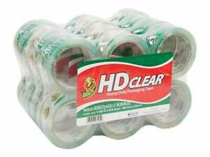 Duck Hd Clear Acrylic Packing Tape 1 88 X 54 6 Yds Clear 427834