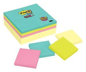 Post it Super Sticky Notes 3 X 3 Miami Collection 90 Sheets pad 2095546