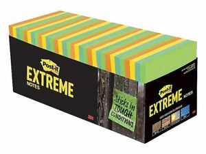 Post it Extreme Notes 3 X 3 Orange Green Yellow Mint 24299626
