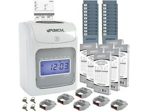 Upunch Electronic Calculating Bundle Punch Card Time Clock System 159969