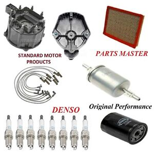 Tune Up Kit Filters Cap Rotor Wire Plugs For Cadillac Deville V8 4 9l 1991 1995