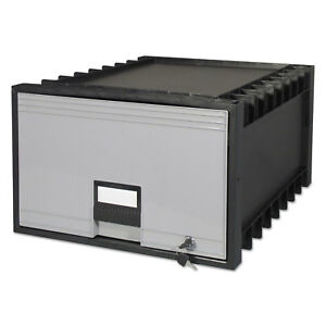 Storex Archive Drawer For Legal Files Storage Box 24 Depth Black gray 61155u01c