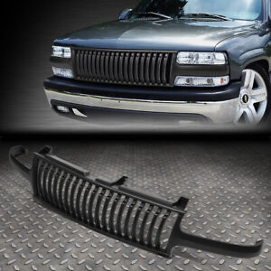 For 99 02 Silverado 00 06 Suburban Tahoe Badgeless Front Bumper Grille Grill