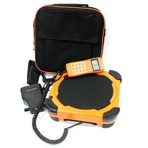 220lbs Electronic Refrigerant Scale W Charge Valve Hvac Charging Digital Weight