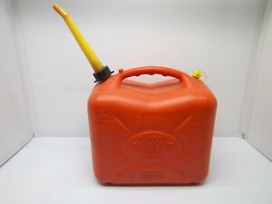 Vintage Pre ban scepter 6 Gallon Vented Red Poly Gas Can Model J 26