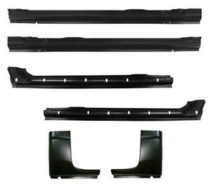 Inner Outer Rocker Panel Cab Corner Kit For 94 01 Dodge Ram Pickup Crew Cab