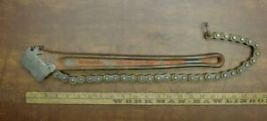 Vintage Ridgid C 18 Chain Pipe Wrench For 2 1 2 Pipe Fittings xlint Worker