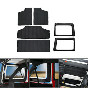 Hardtop Headliner Roof rear Window Insulation Kit For Jeep Wrangler Jl 2018 19