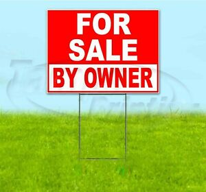 For Sale By Owner 18x24 Yard Sign With Stake Corrugated Bandit Business Dealer