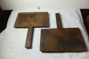 Antique Vtg Set Of Old Farm Animal Sheep Wool Carding Brushes Paddles Combs