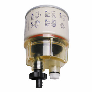With Fuel Fittings Marine Spin On Fuel Filter Water Separator R12t For Racor