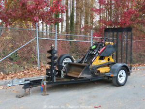 2013 Boxer 320 Compact Skid Steer Track Loader Crawler Aux Hyd Trailer Bidadoo