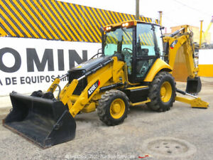 2012 Caterpillar 420e 4wd Backhoe Wheel Loader Tractor Enclosed Cab Ac Bidadoo