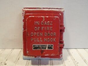 Acme Fire Alarm Box Vintage Pull Station No 1201 a