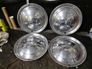 1949 1950 Desoto Hubcaps Set Of 4 Wheel Covers 15 Deluxe Sedan Used Take Off